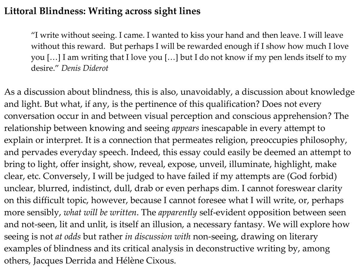 Littoral Blindness
